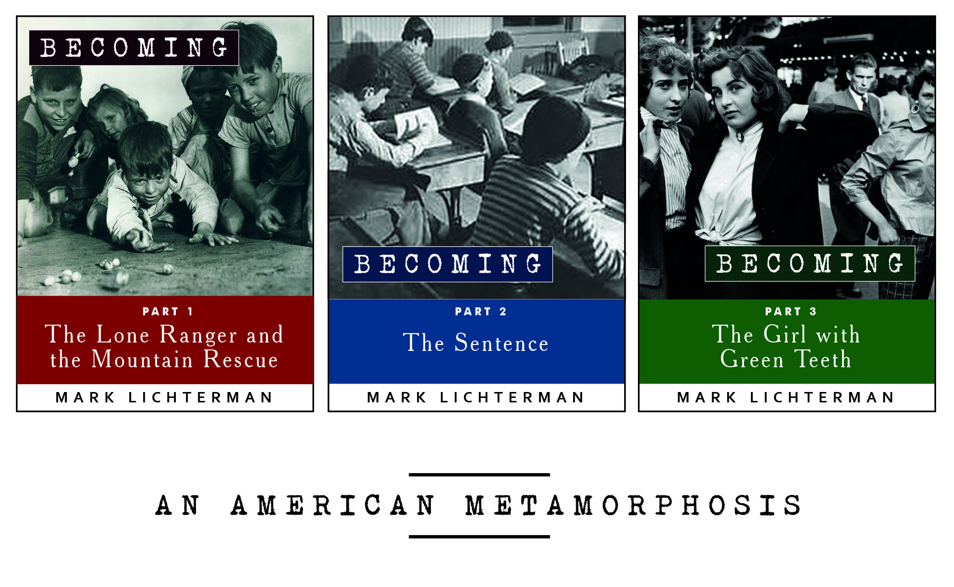 'Becoming' is an epic 26 part series for Kindle.   It is the story of an American passage from youth to manhood, set in the Chicago of the 1940s, 50s, and 60s.  ADVISORY: As 'Becoming' covers a quarter-century in the 'becoming' of a boy to manhood, there are frequent instances of explicit sexual episodes. Be warned.  Learn more at http://adistantmirror.press/becoming/