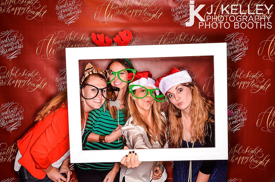 custom step and repeat photo booth for company christmas party httpwww