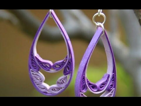 diy craft ideas how to make beautiful quilling earring new design paper art quilling - Earring Design Ideas