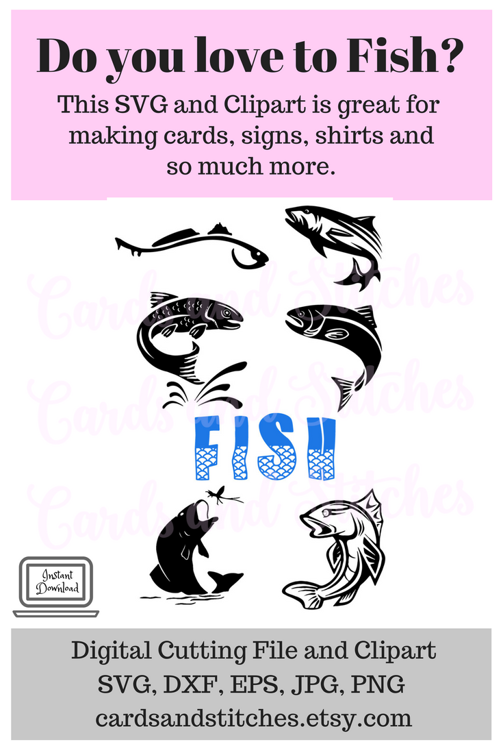 Fish SVG - Fishing SVG - Fisherman SVG - Digital Cutting File ...