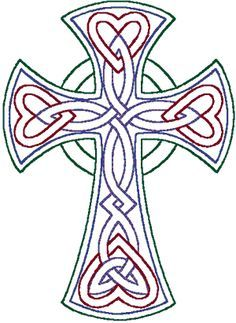 I'm searching for a good trinity knot machine embroidery design.  This isn't what I was looking for, but I think it's gorgeous anyway!  #cross #machine_embroidery $8
