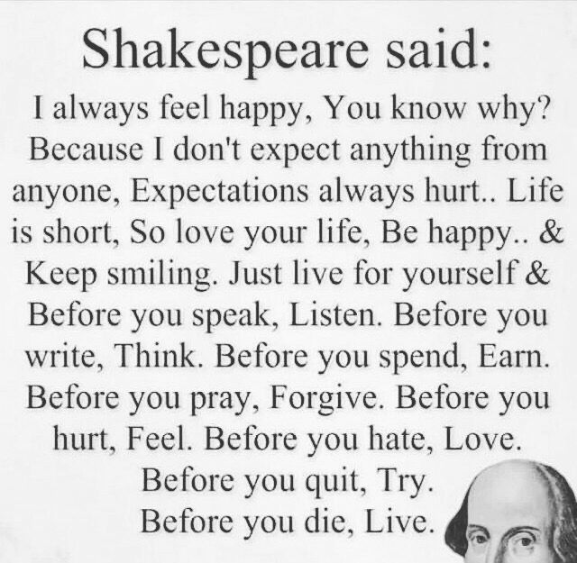 Positive Life Quotes Shakespeare Quote #gratefulforlife #positiveresult #positive #life
