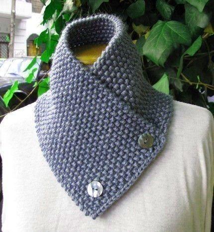 Knitting Pattern for knit scarf cowl or neckwarmer n9 | Tejido ...