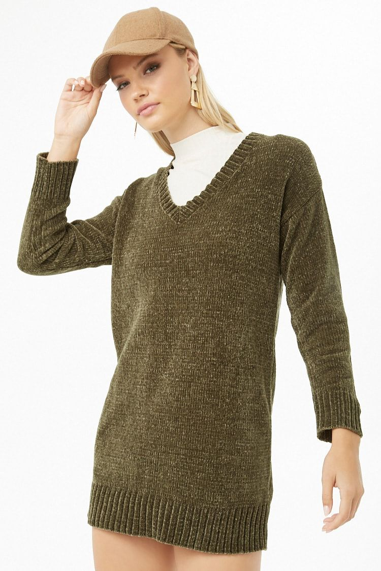 146dfda8ec46b Mini Chenille Sweater Dress | Styling at Forever21 | Sweaters, Knit ...