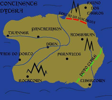 """Map of """"As Crônicas de Aço"""""""