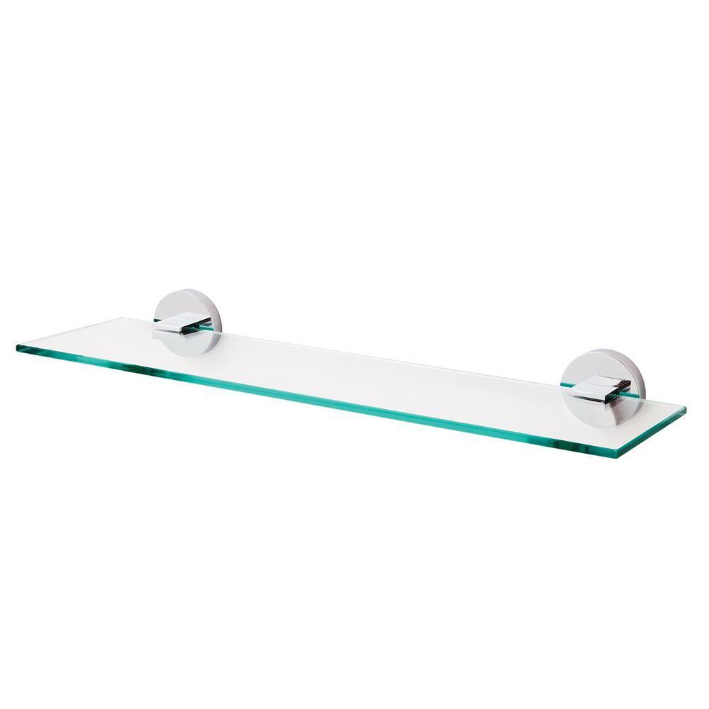 Speakman Neo 5 31 In W Wall Mounted Bathroom Glass Shelf In Polished Chrome Glass Bathroom Shelves Glass Bathroom Speakman
