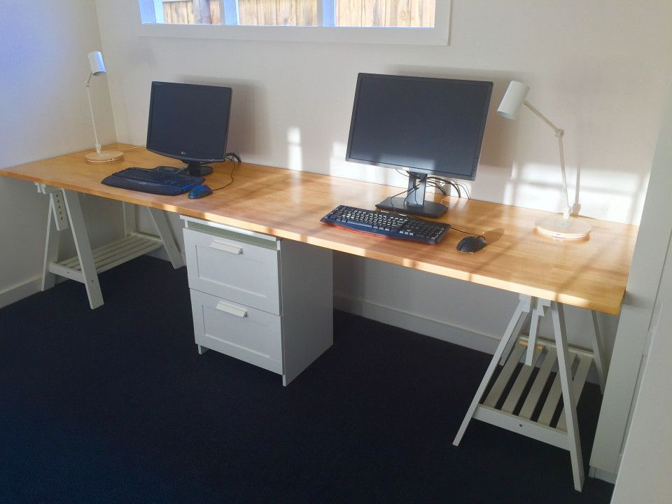 Dual Desk Home Office Furniture   Ideas To Decorate Desk Check More At  Http:/