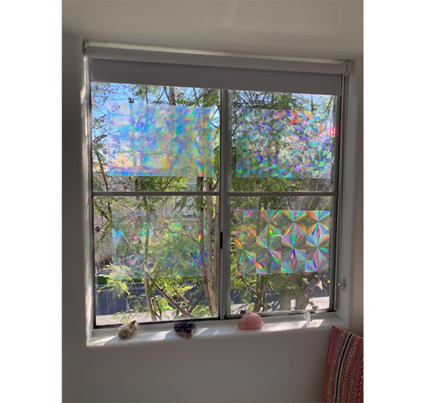 Decorative Window Film Holographic Window Film 12 X 18 Panel Window Decor Decorative Window Film Window Film