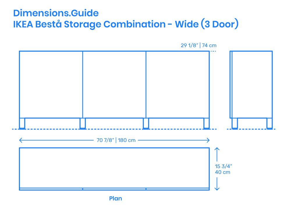 The Wide 3 Door Ikea Bestå Storage Combination Is A Short