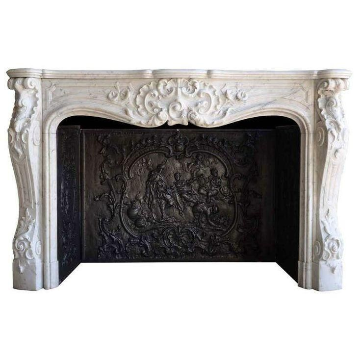 French Louis Xv Style White Marble Fireplace 1stdibs Com Marble Fireplaces Fireplace French Fireplace