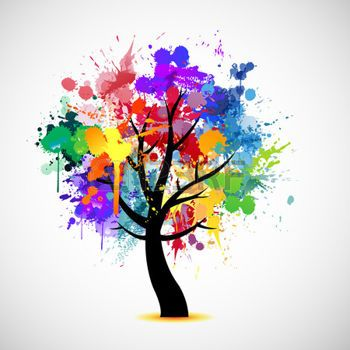 Imagenes de arboles coloridos animados buscar con google for Pintura color albero