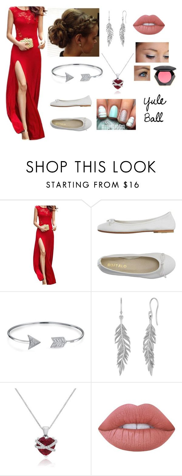 """""""Yule Ball"""" by vulpixtail on Polyvore featuring DIENNEG, Bling Jewelry, Amanda Rose Collection, Lime Crime and H&M"""