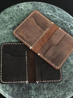 Minimalist Leather Wallet, Bifold Wallet, Distressed Leather Slim Bifold Wallet, Personalized Leather Wallet,Leather Cardholder ID: TEXAS007 #leatherwallets