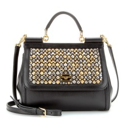 Miss Sicily embellished leather tote by Dolcd & Gabbana