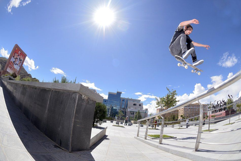 Skate Tibet With Madars Apse and Chris Haslam Everest