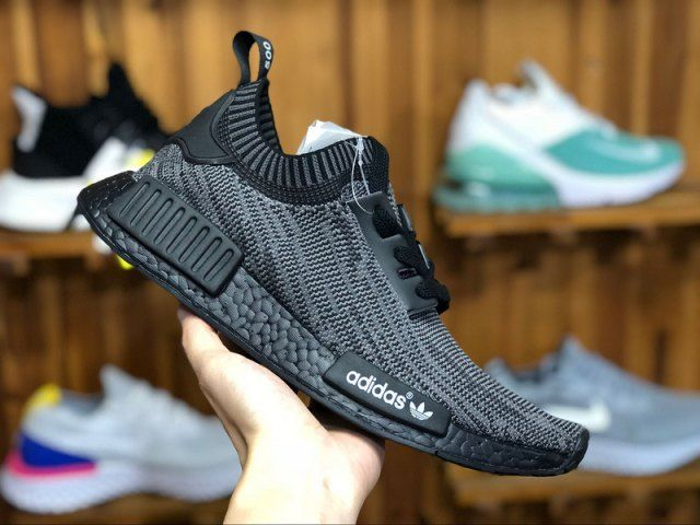 sports shoes 688e8 38aed Mens Shoes Adidas Originals NMD R1 Primeknit Boost Pitch Black S80489