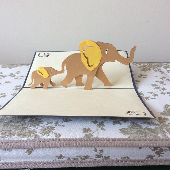 Les Elephants Pop Up Carte Pop Up Card Templates Pop Up Art Pop Up Cards