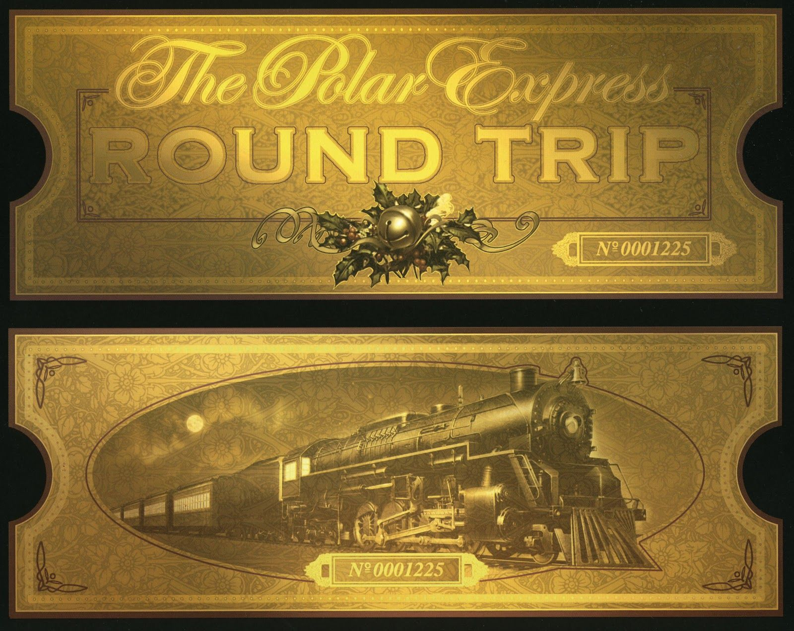 polar express ticket enclose with invitations polar