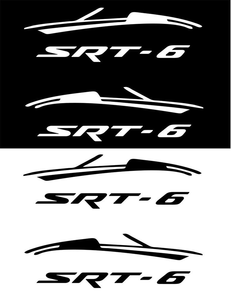 "2 pcs (pair) 7"" wide Vinyl Sticker Decal for Chrysler Crossfire hood type 4 #Oracal"