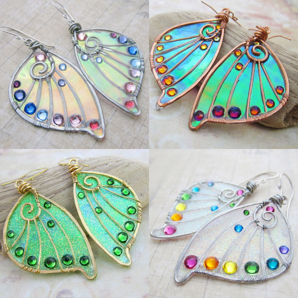 Design Your Own Faery Wing Earrings  Custom Fairy Wing
