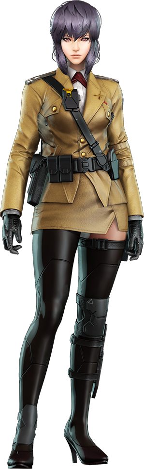 Motoko Kusanagi in formal uniform, Ghost in the Shell