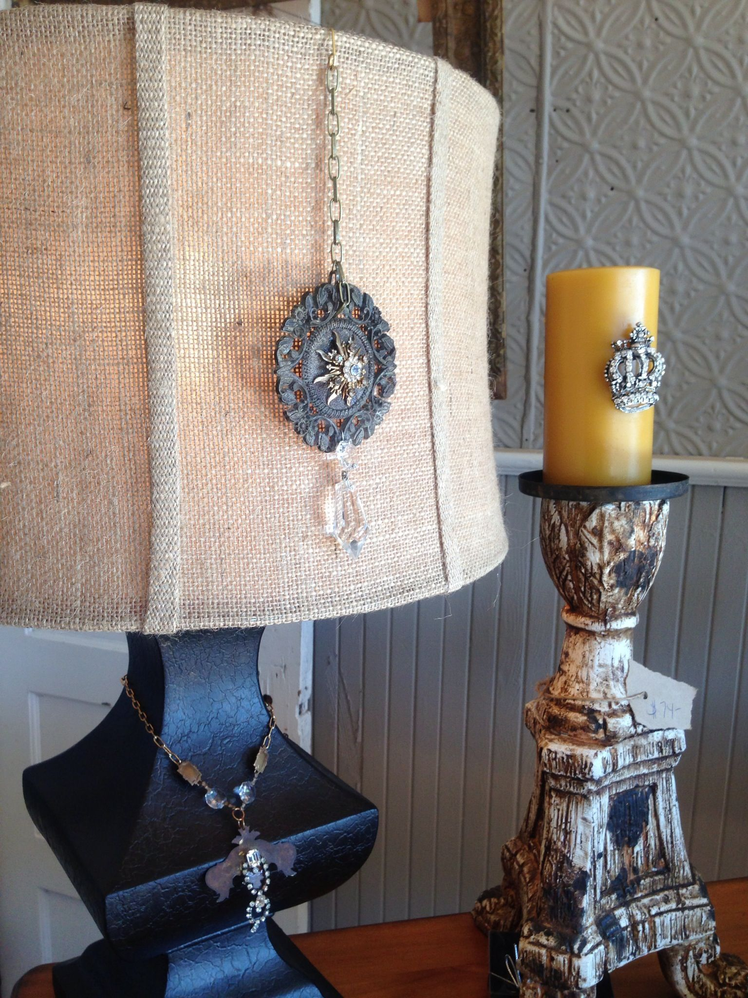 Lamp And Candle Decor Candle Decor Decor Lamp