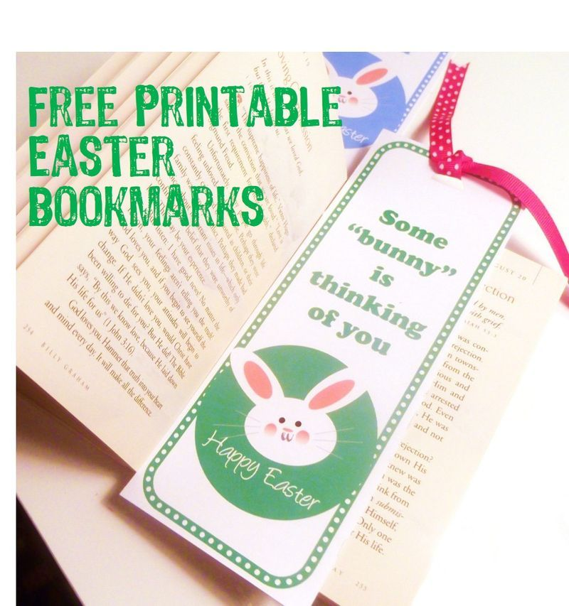 Easy bookmark craft for kids to make for family and friends think with these free printables make easy diy easter bookmarks to give to some bunny special at local nursing homes negle Gallery