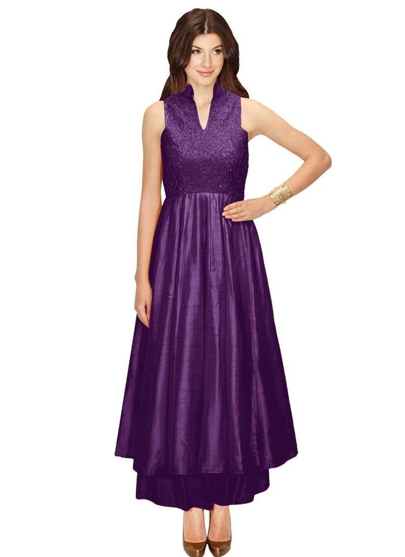 Shop Online Purple Silk #PalazzoSuit @Chennaistore.com | Palazzo ...