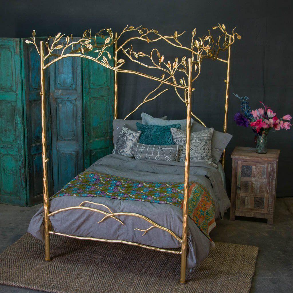 Forest Canopy Bed 24k Gold Decoração de casa
