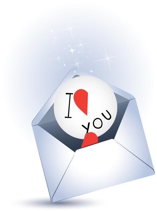 Love Letter Vector Template  Valentine S Day