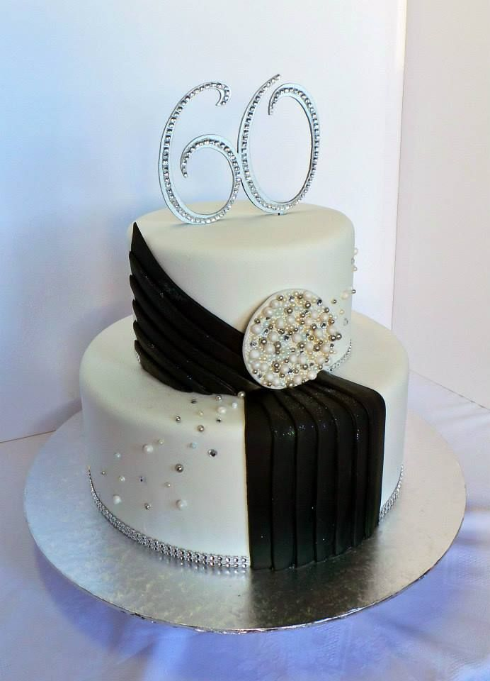 60th Glamorous Birthday Cake Design Was Brought In By Client By