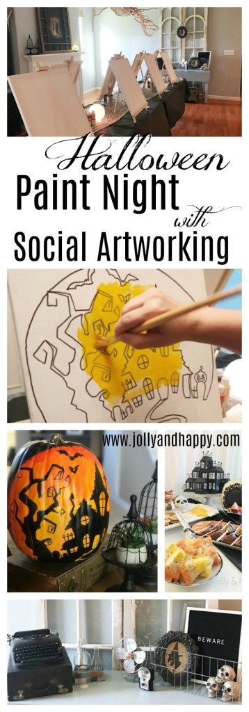 Hilltop Haunt Halloween Paint Party with Social Artworking -   14 cardboard crafts party