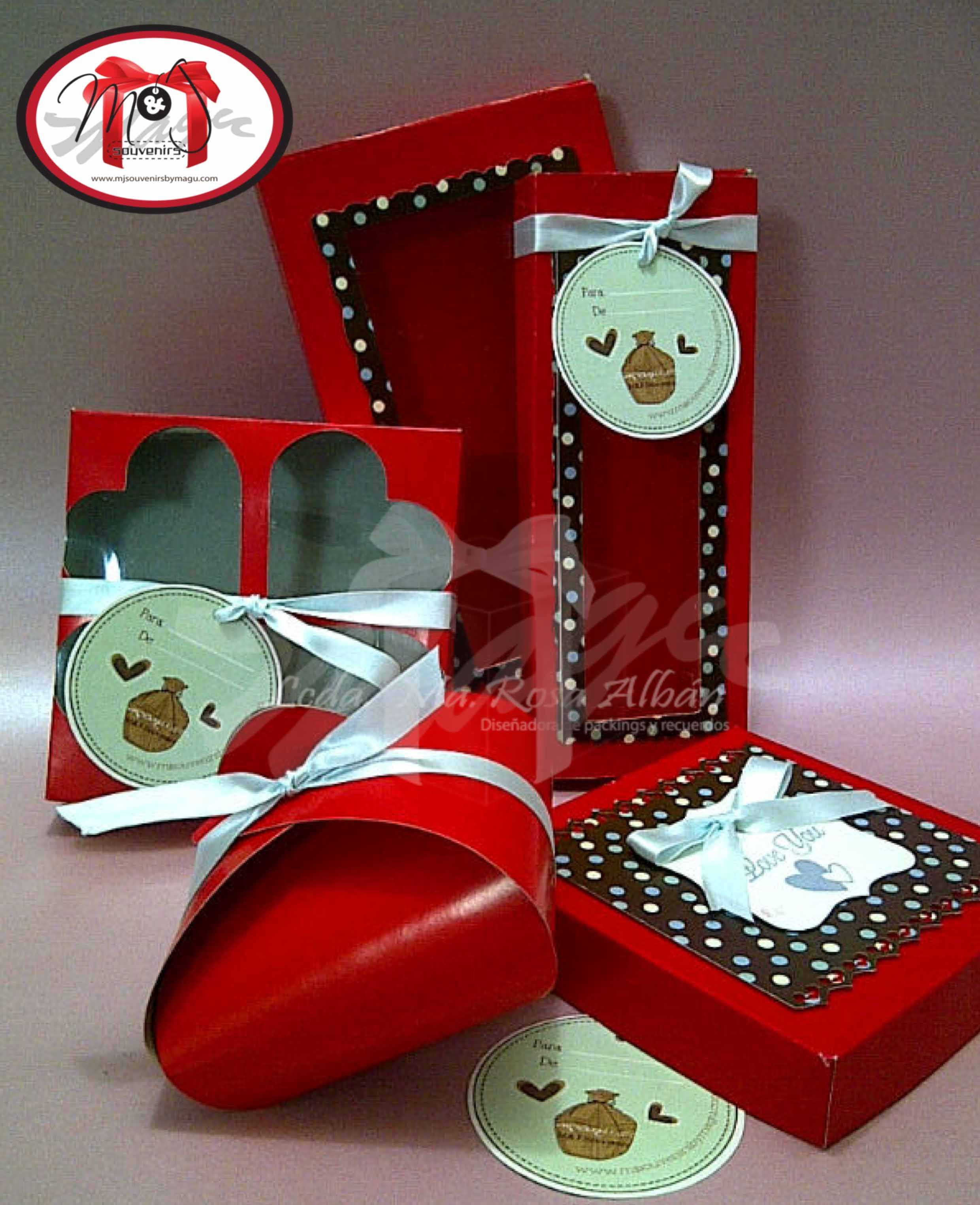 Caja Para Dulces Galletas Alfajores Chocolates Chocotejas Tematica Personalizada Materiales Cartulina Cinta Acetato Gift Wrapping Gifts Holiday