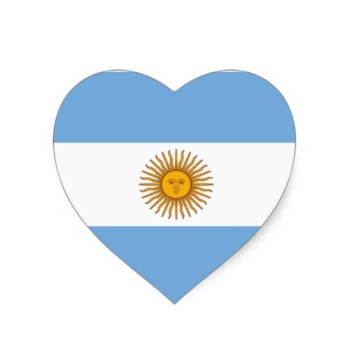 Argentina flag heart sticker