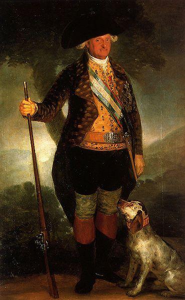 File Carlos Iv Vestido De Cazador Jpg Wikimedia Commons Arte Español Retratos Francisco Goya