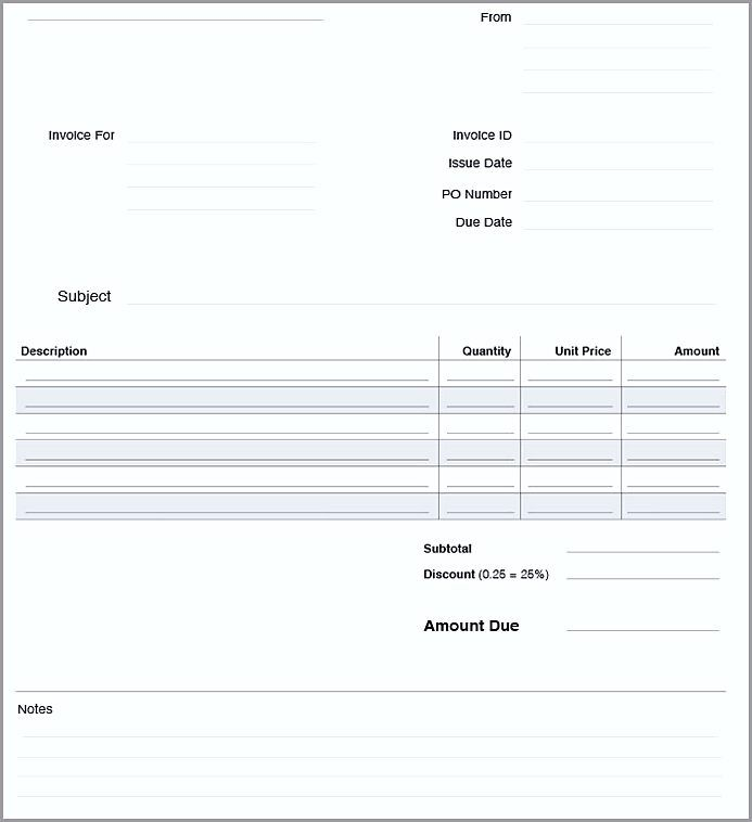 Basic Invoice Template Word , The Uses Of Basic Invoice Template