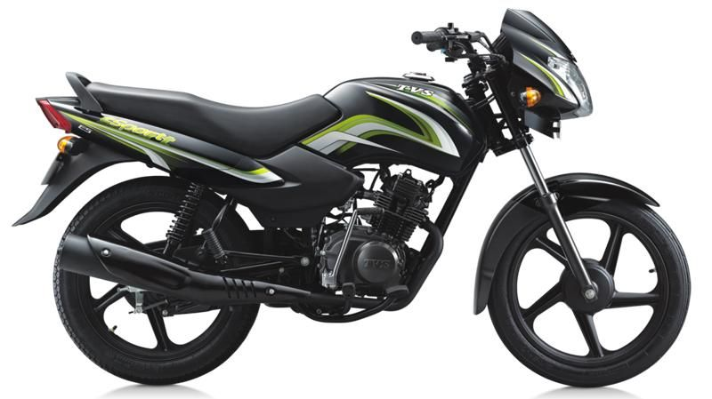 Most Popular Indian Best Mileage And Comfort Also Nice Performance Of Tvs Sport Bike With Prices In India Tv Sport