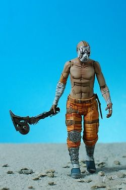 Borderlands Psycho Bandit action figure by NECA, photo and review by Matthew K on thefwoosh.com