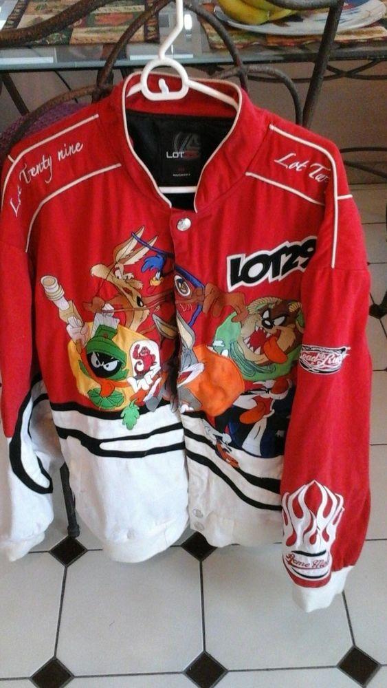 6ed26bdba VINTAGE Looney Tunes RARE men's 2XL 90's Varsity /Racing Jacket Lot ...