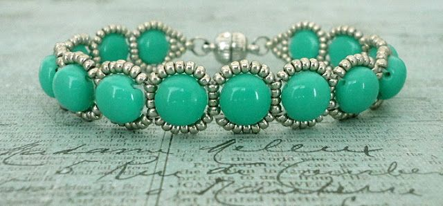 Bracelet of the Day: Candy Loops - Turquoise & Silver