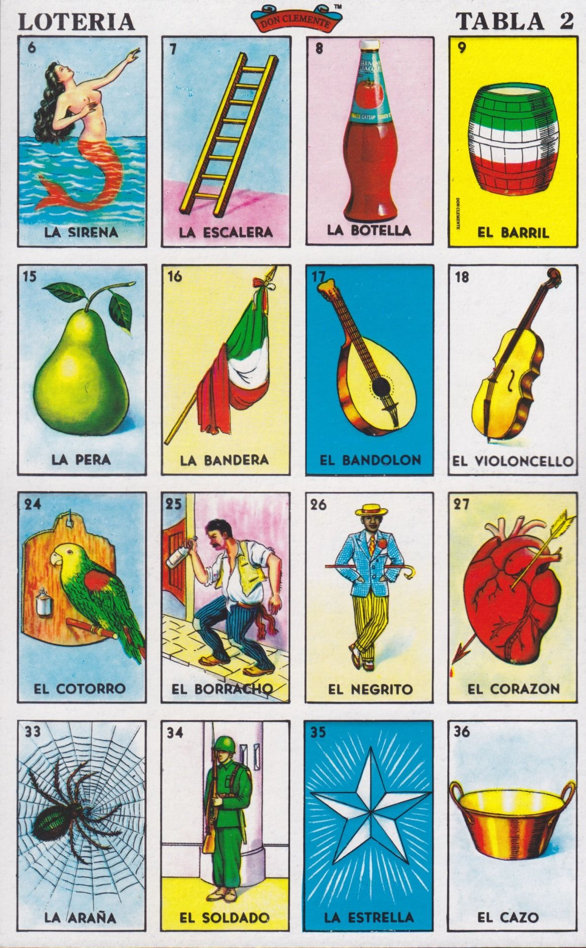 Decisive image inside printable loteria cards
