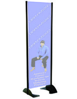 Vertical Banner Displays Stands Without Graphics Outdoor Banner Stands Outdoor Banners Banner Stands