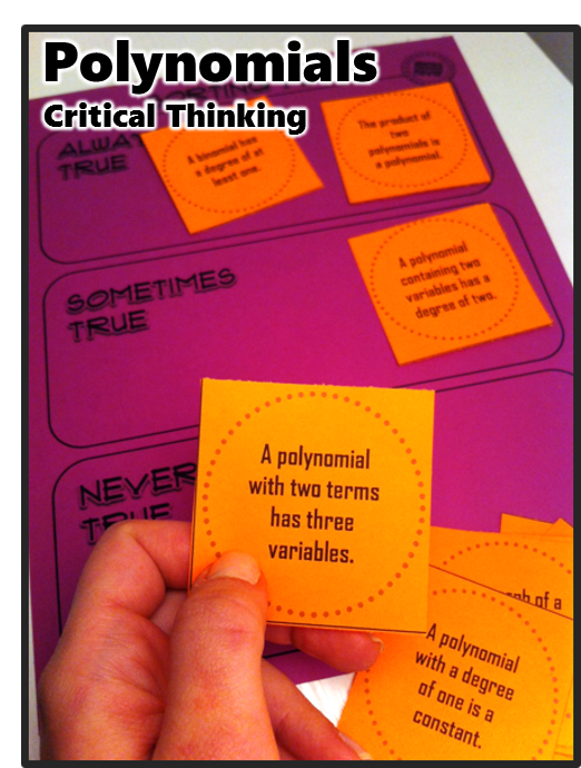 math for critical thinking What is critical and creative thinking, and why is it so important in mathematics and numeracy education numeracy is often defined as the ability to apply mathematics in the context of day to day life however, the term 'critical numeracy' implies much more.