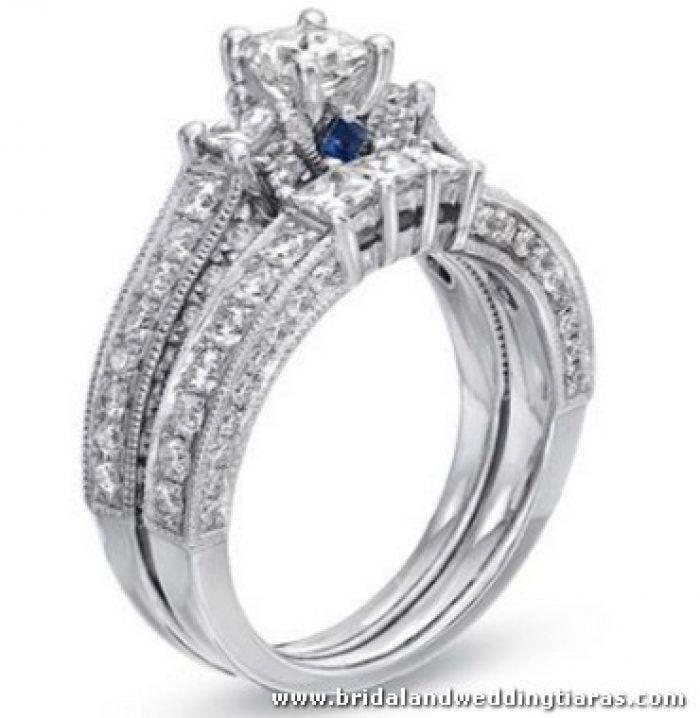 Vera Wang Wedding Sets Engagement Rings Solitaire Thin Band Round Halo Engagement Rings Wedding Sets