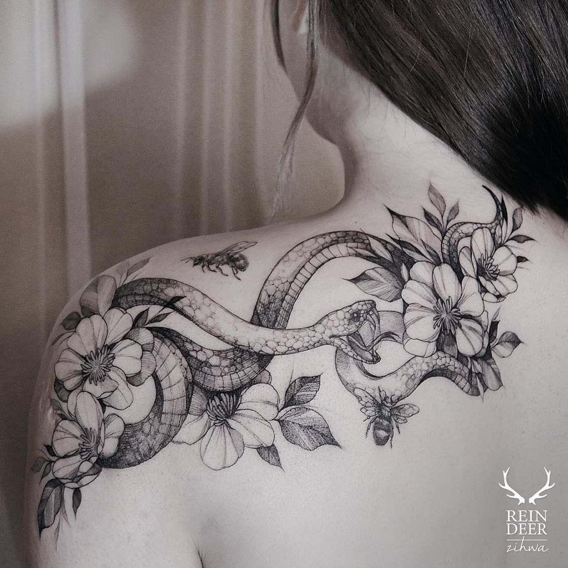 50 Snake Tattoos For Women Trendy Tattoos Tattoos For Women