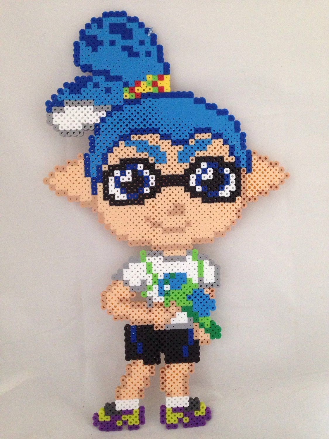 Splatoon Boy Perler Beads By Theperlerpony Perler Bead Art