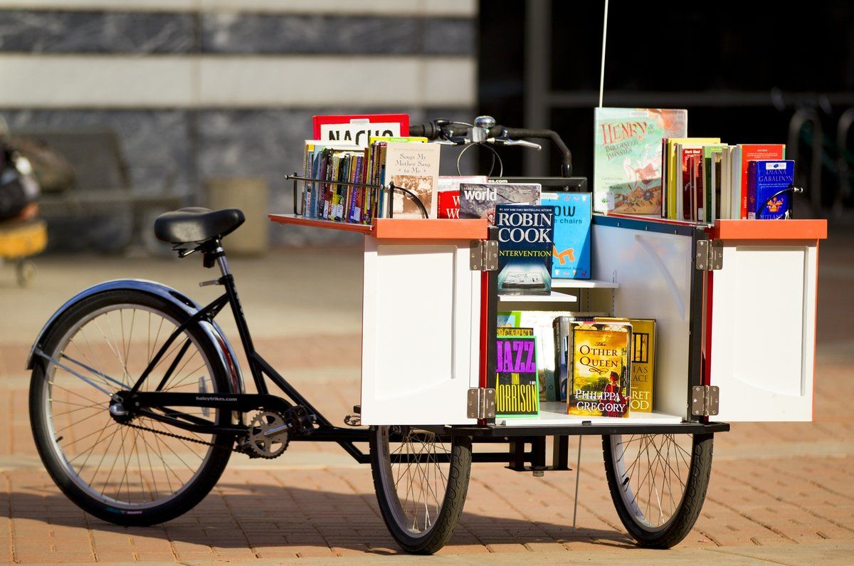 Library Bike Mobile Library Little Free Libraries Little Library