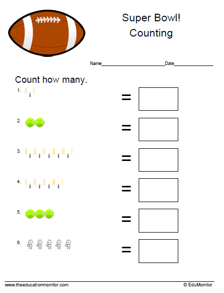 P-K Counting Worksheets- Addition Worksheets - Fractions ...