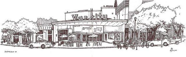 varsity theatre, davis | Dibujo