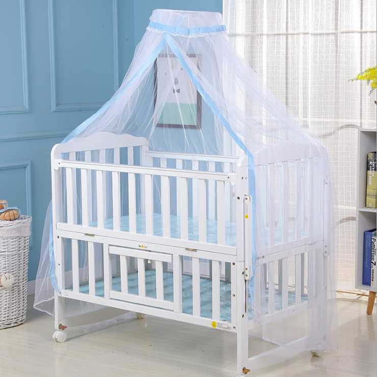 Photo of Kids Baby Bed Canopy Bedcover Mosquito Net Curtain Toddler Crib Cot Bedding Tent